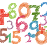 Numbers in various colors.