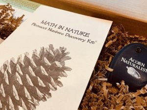 Kit contains pine cones, a 3x magnifier, an education guide, female pine cones, and more.