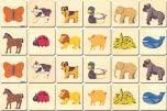 Animals Wooden Memory Tiles Set