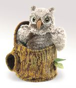 Owlet (in Tree Stump) Puppet