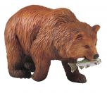 Bear (Grizzly, with Salmon) Model
