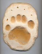 Bear (Black) Track Cast (Large Plaque)