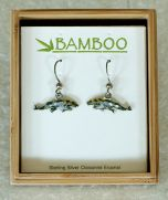 Gray Whale and Calf Earrings (Bamboo Jewelry)