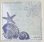 Seashell & Sea Star Melamine Salad Plate
