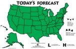 Weather Wall Classroom Map