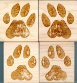 Bobcat Track Stamp Collection (4 Rubber Stamps)