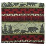 Bear Motif Cloth Napkin