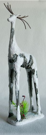 Frosted Deer Statuette