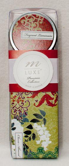 Hana Design Almond Soap & Candle Gift Set