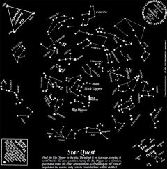 Star Quest, Glow-in-the-Dark (Fundana® Bandana)
