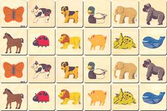 Animals Wooden Memory Tiles Set