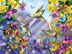 Hummingbirds & Butterflies (300 Piece Puzzle)