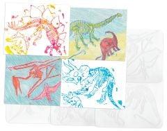 Dinosaur Rubbing Plates