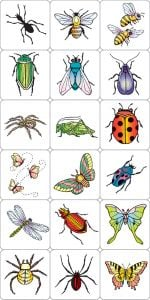 Insects & Spiders Rubber Stamp Kit