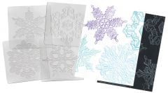 Snowflakes Rubbing Plates