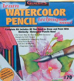 Learn Watercolor Pencil Techniques Kit