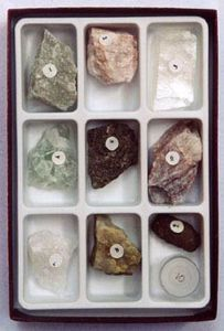 Mineral Scale of Hardness Set #2, With Diamond (Specimen Collection)
