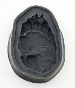 Bear (Black) Track Mold: Adult Front