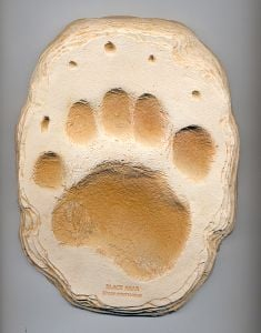 Bear (Black) Track Cast (Large Plaque)