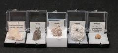 Mixed Minerals, Set Of 5.