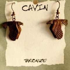 Bald Eagles Bronze Earrings (Wildlife in Bronze)
