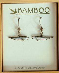 Bottlenose Dolphin Earrings (Bamboo Jewelry)