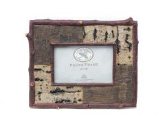 Resin Bark Picture Frame
