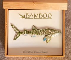 Whale Shark Pin (Bamboo Jewelry)