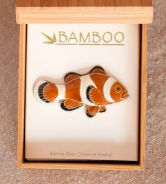 Clownfish Pin (Bamboo Jewelry)