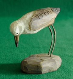 Turnstone Carved Wood Statuette