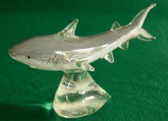 Glass Great White Shark Sculpture