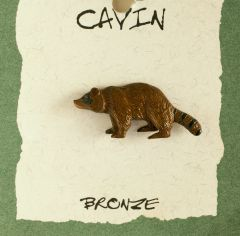 Raccoon Bronze Pendant (Wildlife in Bronze)