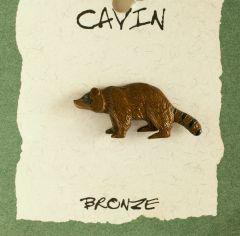 Raccoon Bronze Pendant (Wildlife In Bronze)