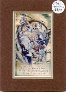 Wild Birds Mailable Art Card