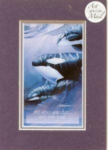 Orcas Mailable Art Card