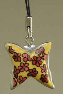 Floral Butterfly Charm