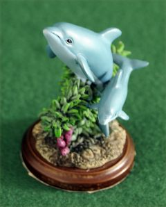Dolphins Mini Sculpture