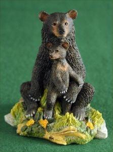 Black Bear & Cub Sculpture