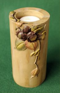 Autumn Leaf Candle Holder Pillar