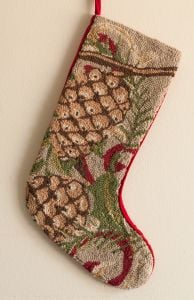 Pinecone Hook Stocking