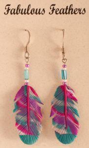 Sky Clay Feather Earrings (Hook).
