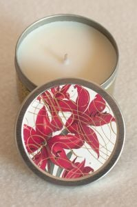 Amaryllis Scented Candle Tin