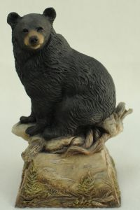 Black Bear Grounded Sculpture