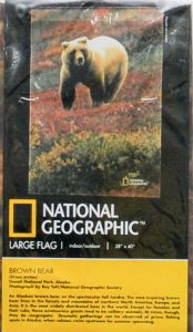 Brown Bear Large Flag