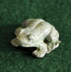 Mini Brass Frog Figurine