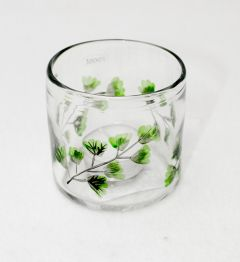 Fern Leaf Votive Jar