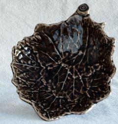 Sycamore Leaf Ceramic Accent Bowl
