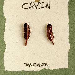 Feather Bronze Earrings (Wildlife In Bronze).