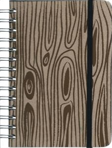 Faux Woodgrain Mini Journal