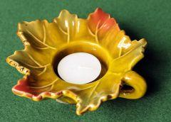 Autumn Leaf Ceramic Tealight Holder